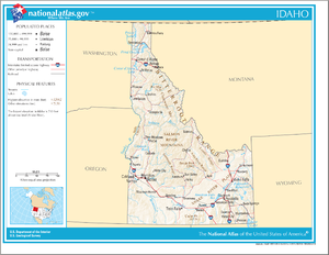 Outline of Idaho - An enlargeable map of the state of Idaho