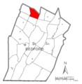 Map of Kimmel Township, Bedford County, Pennsylvania Highlighted.png