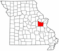 Map of Missouri highlighting Franklin County.png