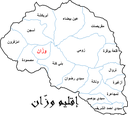 Map of Ouazzane province AR.png