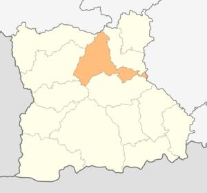 Razlog Municipality - Image: Map of Razlog municipality (Blagoevgrad Province)