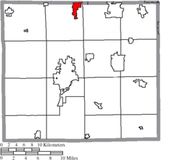 Location of Creston in Wayne County