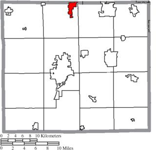 Creston, Ohio - Image: Map of Wayne County Ohio Highlighting Creston Village