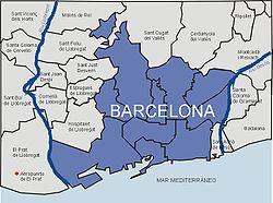 Vị trí của Barcelona