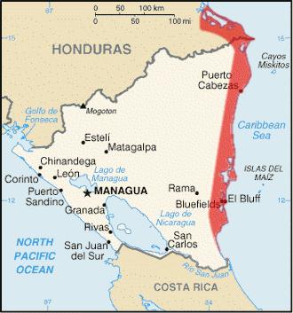 Location of Mosquitia