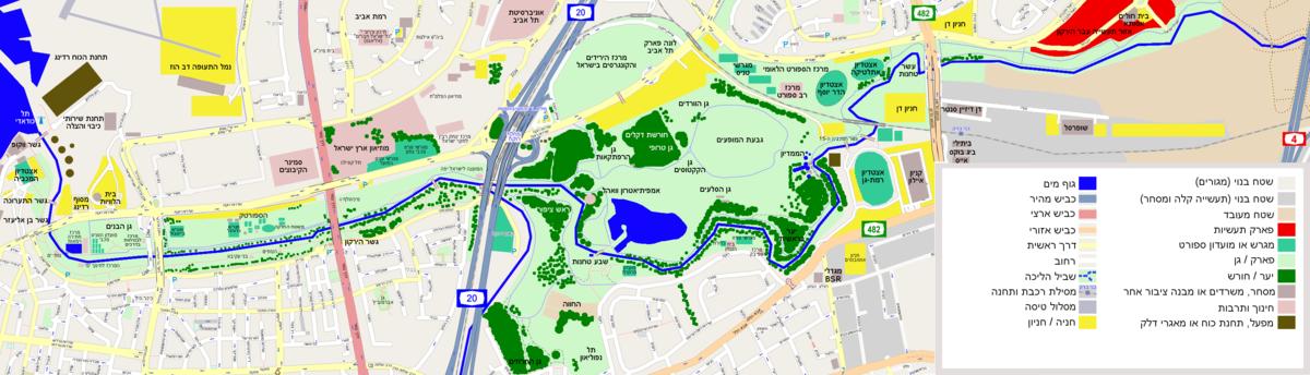 מפת פארק הירקון