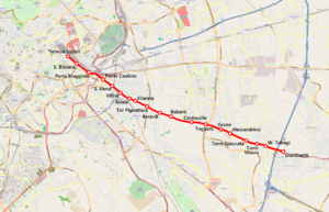 Rome–Fiuggi–Alatri–Frosinone railway - Map