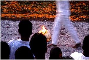 Français : Marche sur le feu à La Réunion.