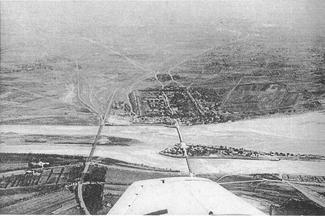 Vista aérea da Ponte Marco Polo.