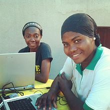 Mariam and Uche, a statistician and a software developer in Lagos (8102029130).jpg