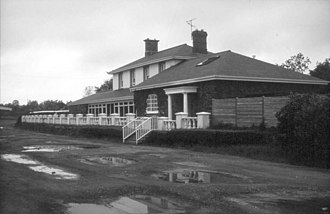 Markethill - Markethill railway station in 1970 on the line constructed by the Newry and Armagh Railway.