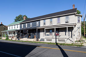 Marklesburg Historic District - The northwest side of Raystown Rd at the intersection with Chestnut and Aitch (also known as Clay, PA 3010, and Railroad St)
