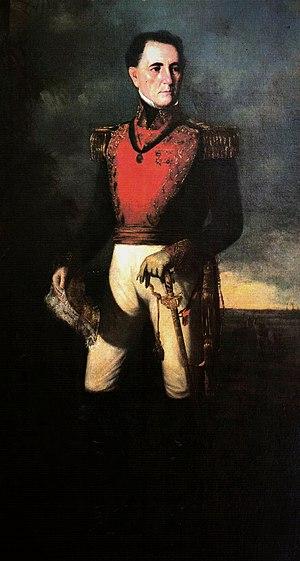 José Tadeo Monagas - Portrait by Martín Tovar y Tovar