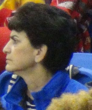 Mary Papazian - Papazian attends a San Jose State basketball game in 2017.