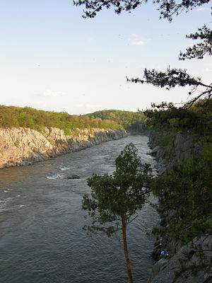 Mather Gorge - Mather Gorge from the Virginia side.  The Potomac River lies fully within Maryland.