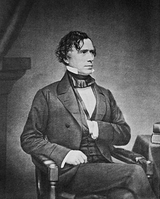 Franklin Pierce - Photo by Mathew Brady, c. 1855–65