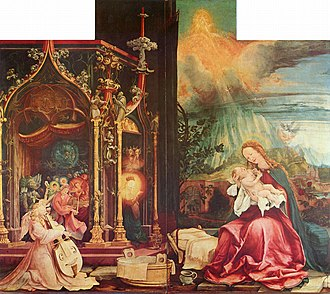 The Battle of Alexander at Issus - Matthias Grünewald's The Virgin and Child with the Heavenly Host (c. 1515)