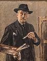 Max Liebermann, Selbstbildnis stehend mit Palette, 1927, MGS-20160312-001.jpg