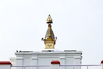 Maya Devi Temple, Lumbini - Image: Maya Devi Temple top