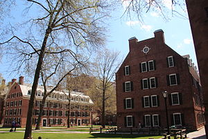 Connecticut Hall - Connecticut Hall at left and McClellan Hall, built in 1925 as a replica of Connecticut Hall, at right.