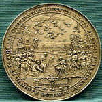 Medal commemorating recapture of Kiev by Janusz Radziwiłł in 1651.PNG