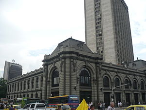 Antioquia Railway - The historic Medellín station of the Antioquia Railway.