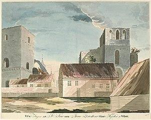 Medieval church ruins in Visby, Gotland, Sweden