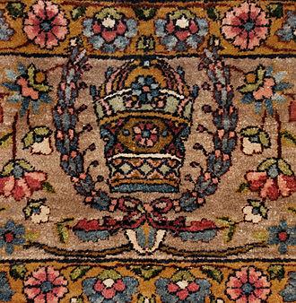 "Dilmaghani - Semi Antique Dilmaghani Kerman ""Cyrus Crown"" ca. 1925"