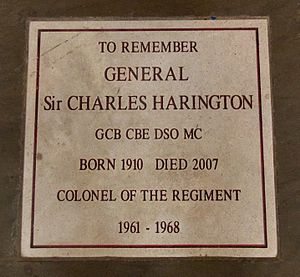 Charles Harington (British Army officer, born 1910) - Memorial to General Sir Charles Harington in Chester Cathedral.