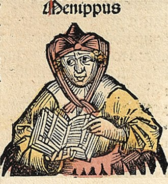 Menippus - Menippus, Nuremberg Chronicle.