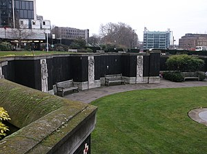 Grade II* listed war memorials in England - Image: Merchant Marine memorial from Trinity Square Gardens (06)