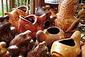 Mexican pottery at Anita's in Bothell, WA 02.jpg