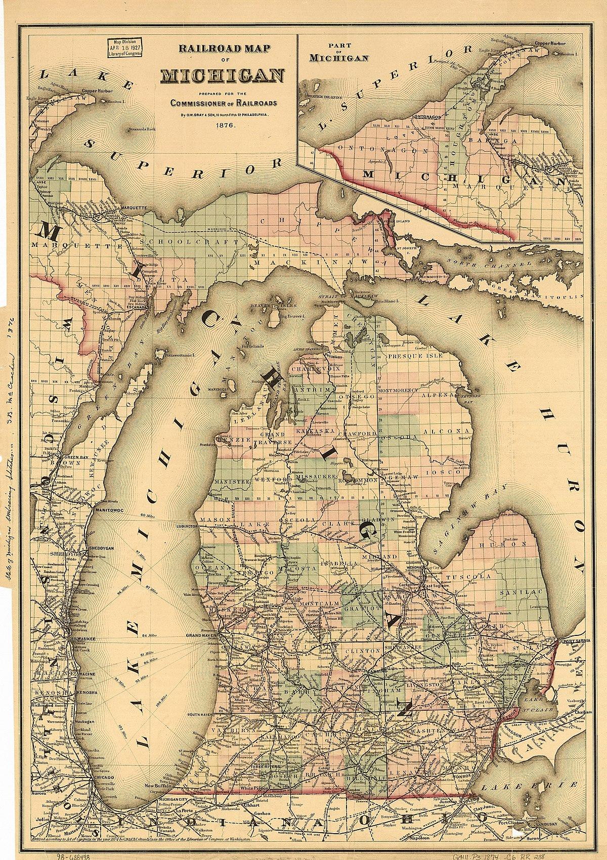 Worksheet. History of railroads in Michigan  Wikipedia