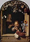 Mieris I, Frans van - Boy Blowing Bubbles - 17th century.jpg