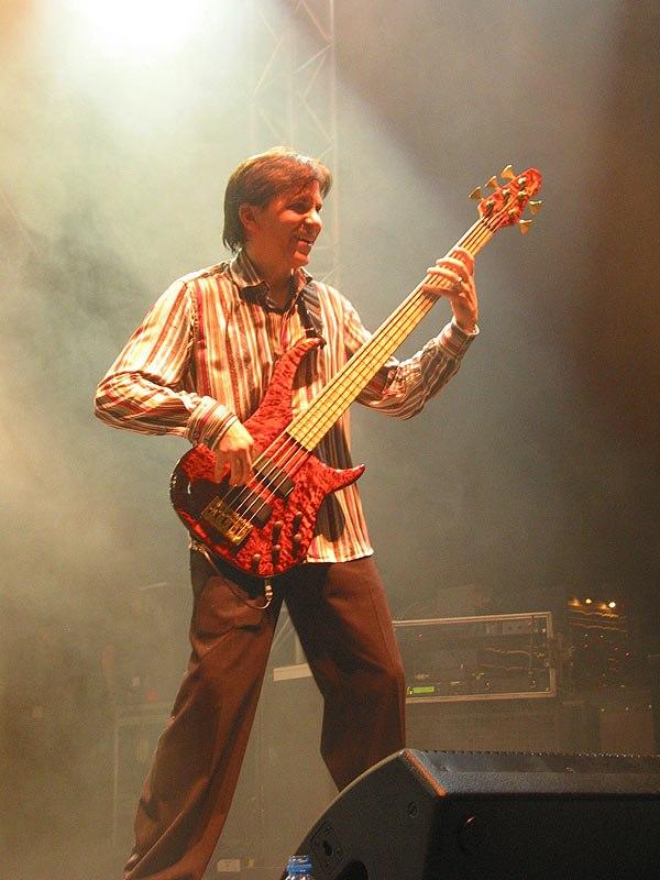 Mike Porcaro with bass guitar