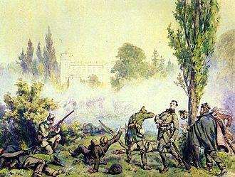 Greater Poland uprising (1848) - Battle at Miłosław, 1868 painting by Juliusz Kossak.