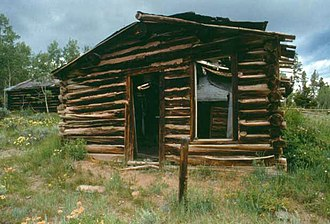 Miner's Delight, Wyoming - An abandoned cabin in the ghost town at Miner's Delight