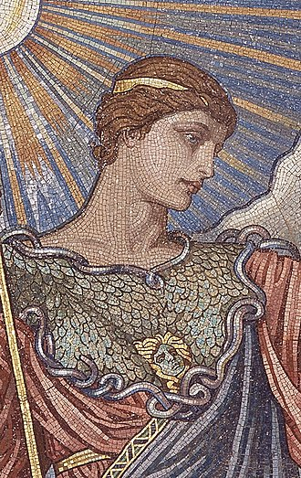 Minerva - Mosaic of the Minerva of Peace in the Library of Congress