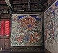 Ming dynasty mural of Trailokyavijaya (降三世明王; Xiangsanshi Mingwang), one out of Ten Wisdom Kings (十大明王), in Dayun Temple (浑源大云寺), Hunyuan, Datong, Shanxi, China.jpg
