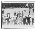 Mitchell, his wife, and aides being photographed before going into the Morrow Aviation Board, Sept. 29, 1925 LCCN2003675581.jpg