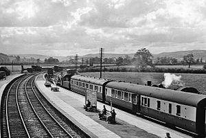 Llanidloes and Newtown Railway - Moat Lane Junction Station in 1957