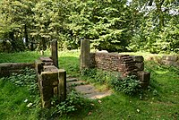 Moated site of Clayton Hall, adjacent fishponds and channels - remains of building.jpg