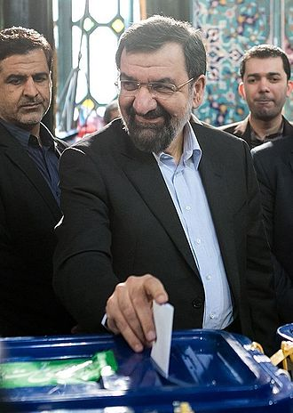 Mohsen Rezaee - Rezaee casting his vote in 2016 parliamentary election