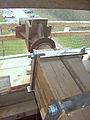Molen Weseker standerdmolen Duitsland, bovenas insteekkop (4).jpg