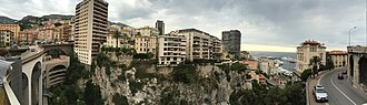 Monte Carlo - Monaco city panorama from train station, May 2015