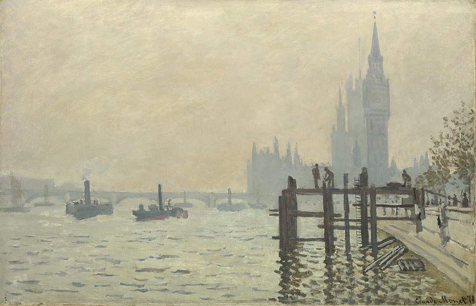 Monet The Thames at Westminster 1871 Westminster