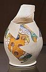 Montelupo, boccale a ovali e rombi con stemma mediceo, 1500-20 ca.jpg