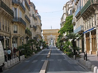Montpellier - Rue Foch with its typical 19th-century architecture.