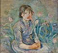 Morisot - Peasant Girl Among Tulips, 1890.jpg