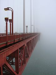 Fog at the Golden Gate Bridge, San Francisco